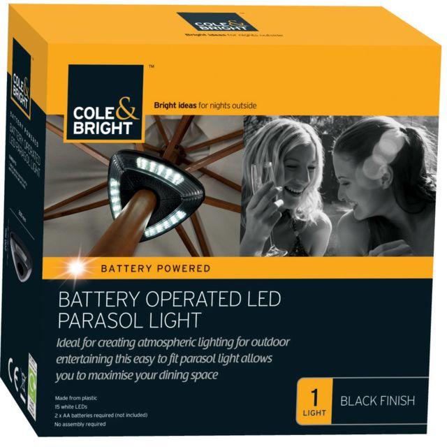 COLE & BRIGHT Lumière LED pour parasol