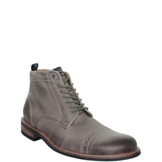 113392d894d Pepe Jeans Chaussures - Boots Pepe Jeans en cuir ref pep38101-gris ...