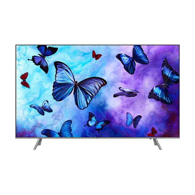 samsung tv qled uhd 4k 75 190 cm 75q6f 2018 silver pas cher achat vente tv led de 66. Black Bedroom Furniture Sets. Home Design Ideas