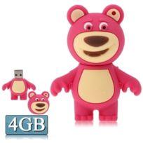Wewoo - Clé Usb magenta pour toutes sortes de cadeaux de fête, 4 Go Disque Flash Silicone Usb en forme d'ours brun, Spécial