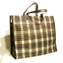 Sidebag - Cabas toile 34x42x16 cm Ecossais