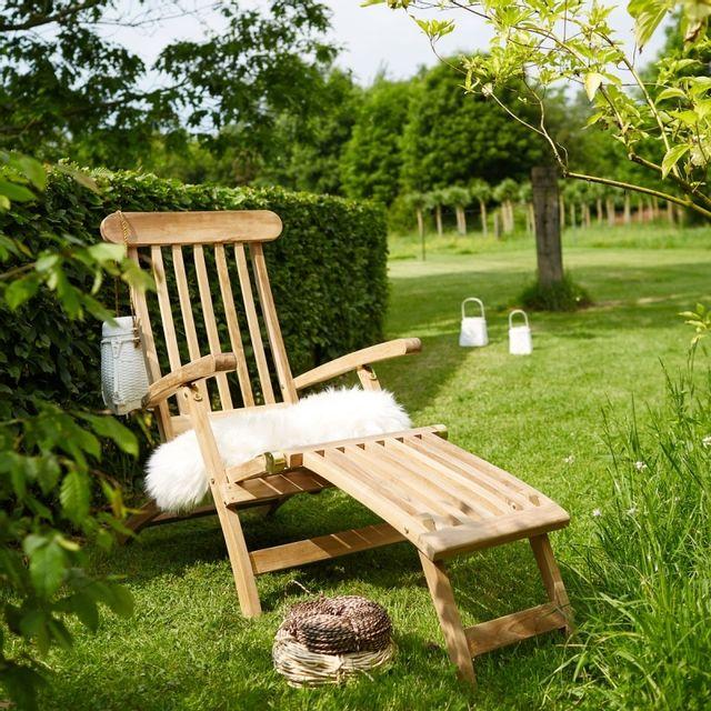 Bois Dessus Bois Dessous Transat en bois de teck