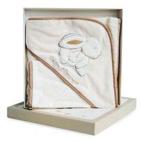 Doudou Et Compagnie - Coffret Lapin Bonbon : Cape de bain et gant