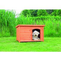 Trixie - Niche en pin vernis toit plat Natura Taille M Longueur 85 cm Largeur 58 cm Hauteur 60 cm Ex : Border Collie