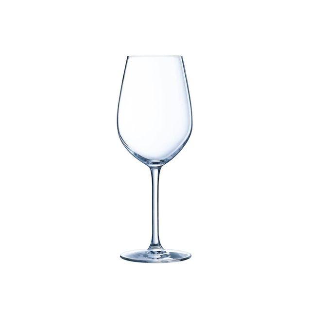 Chef Et Sommelier Verre à vin à pied en krysta transparent 35 cl - Lot de 6 Sequence