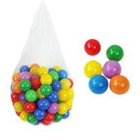 MONSIEUR BEBE - Sac de 100 balles de jeu ou de piscine multicolores Ø 5,5 cm