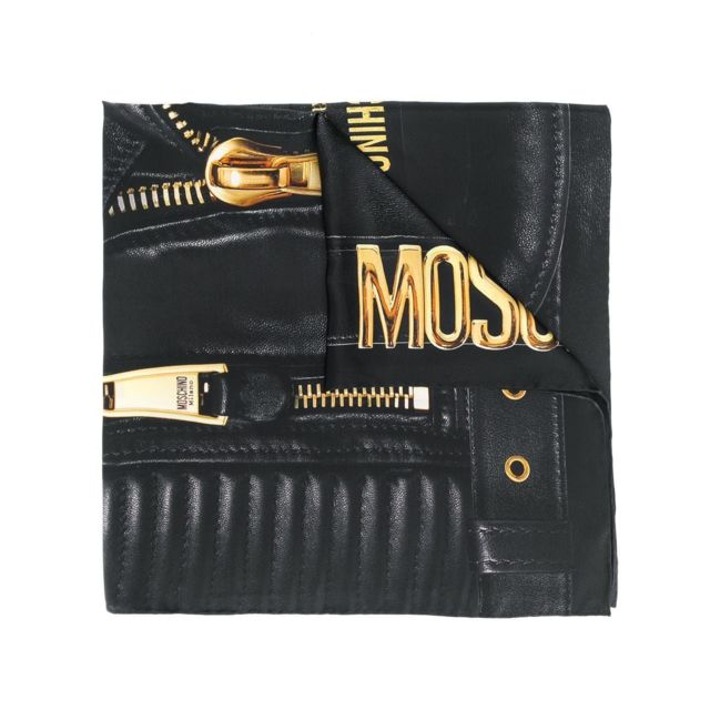 Moschino Femme 03509M2054001 Noir Soie Foulard