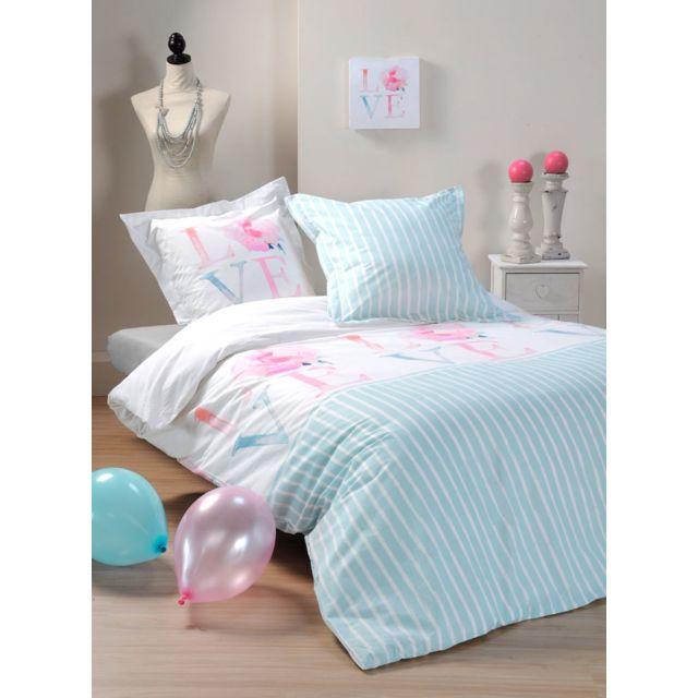 sans marque housse de couette 220 x 240 cm taies romantique multicolor 240cm x 220cm. Black Bedroom Furniture Sets. Home Design Ideas