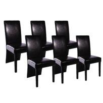 Vidaxl   Chaise De Salle à Manger 6 Pcs Cuir Artificiel Noir   160295   Noir