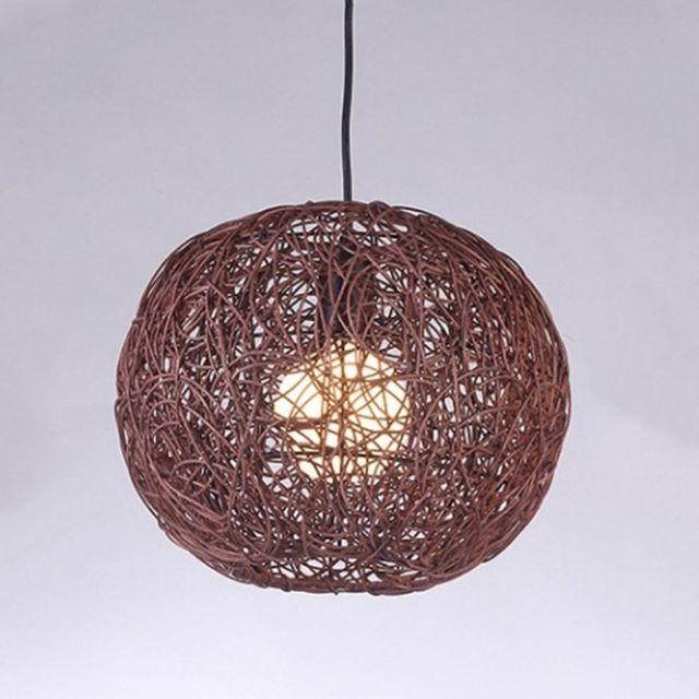 Incroyable Wewoo   Lampe Suspendue Luminaire Salon Moderne Décoration De La Maison En  Rotin Chandelier à Une Tête Design Personnalisé Éclairage Créatif Convient  à ...