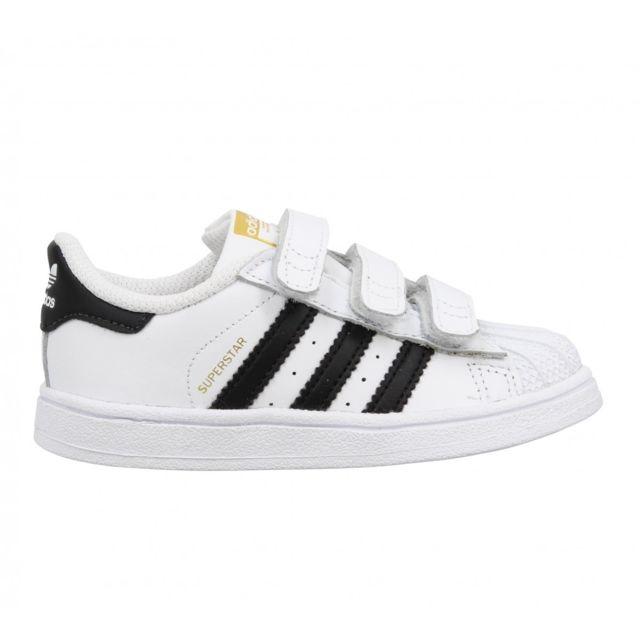 Adidas Superstar Foundation cuir Enfant 25 Blanc + Noir