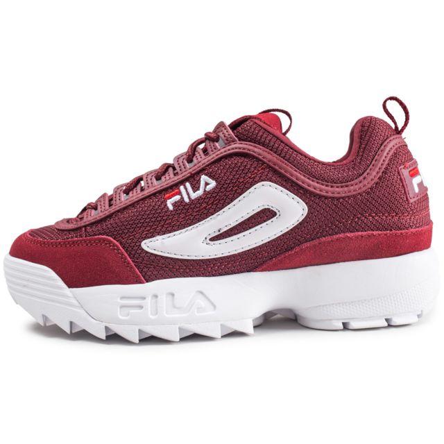 chaussure fila rouge noir