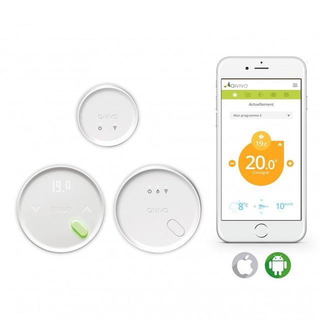 qivivo thermostat connect pour fil pilote pas cher. Black Bedroom Furniture Sets. Home Design Ideas