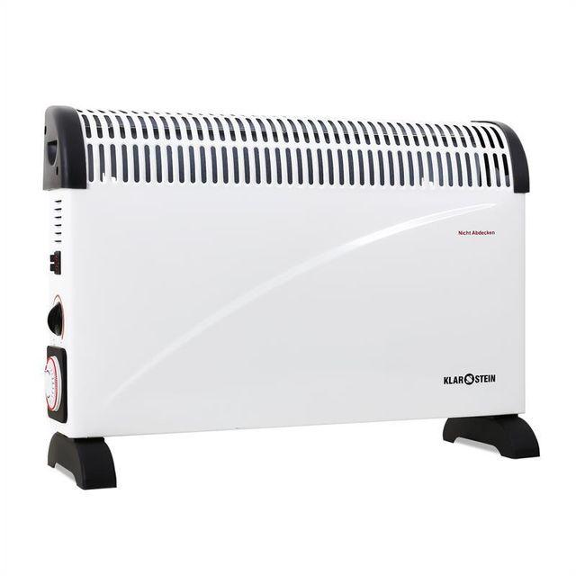 klarstein - ht005cv radiateur  u00e9lectrique  u00e0 convection minuterie 2000w   vente