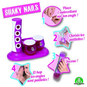 kit deco ongles shaky nail 100 nails very bella