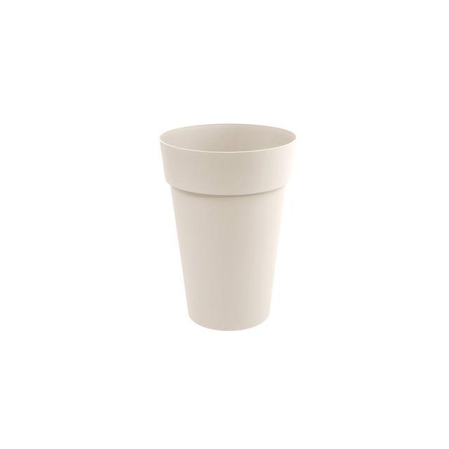 Eda Plastiques Pot De Fleur Haut Rond En Polyethylene Toscane 1