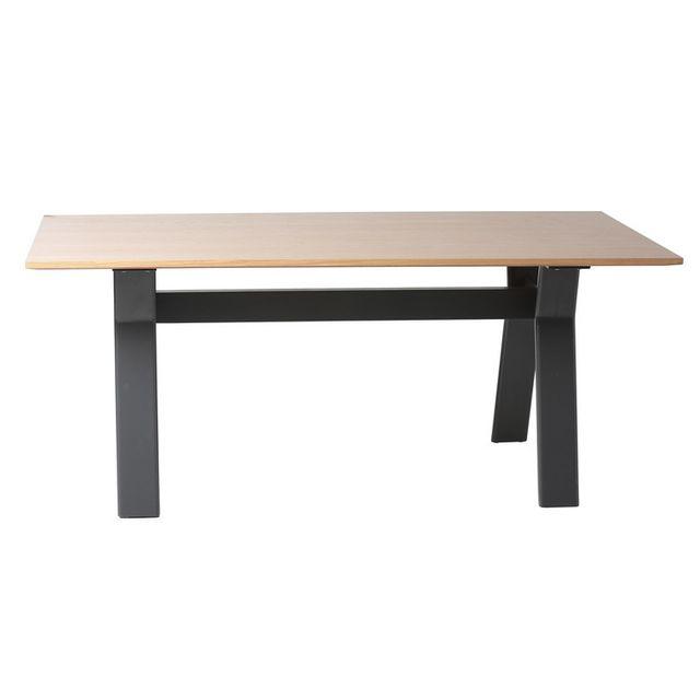 Marque Generique Table à manger rectangulaire en bois Longueur 180 cm Kaylan