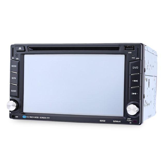 Auto-hightech Autoradio Dvd Stéréo de Voiture à Écran Tactile 6.2 pouces avec Bluetooth V3.0, Navigation Gps, support de carte Sd et U