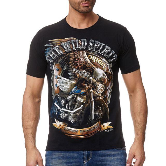 CABIN T-shirt fashion pour homme T-shirt W134 noir