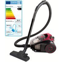 DOMOCLIP - aspirateur sans sac aaad 85db rouge/noir - doh111r