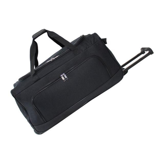 utopia sac de voyage roulette black cabine 50 cm noir pas cher achat vente sacs de. Black Bedroom Furniture Sets. Home Design Ideas