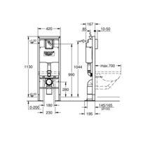 Bati Support Rapid Sl Wc 42 Cm Autoportant 38599001