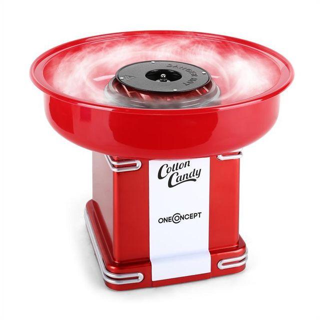 ONECONCEPT Candyland 2 Machine à barbe à papa rétro 500W -rouge
