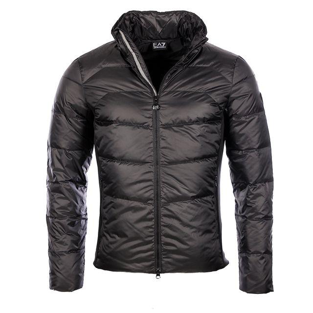 Armani - Ea7 - Armani Premium - Doudoune habillée noire homme 6XPB03 Pn22Z 0ebeda12fe8