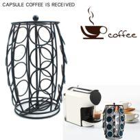 Lot de 2  Support Porte Dosettes 20 Capsules Nespresso Distributeur Métal Café