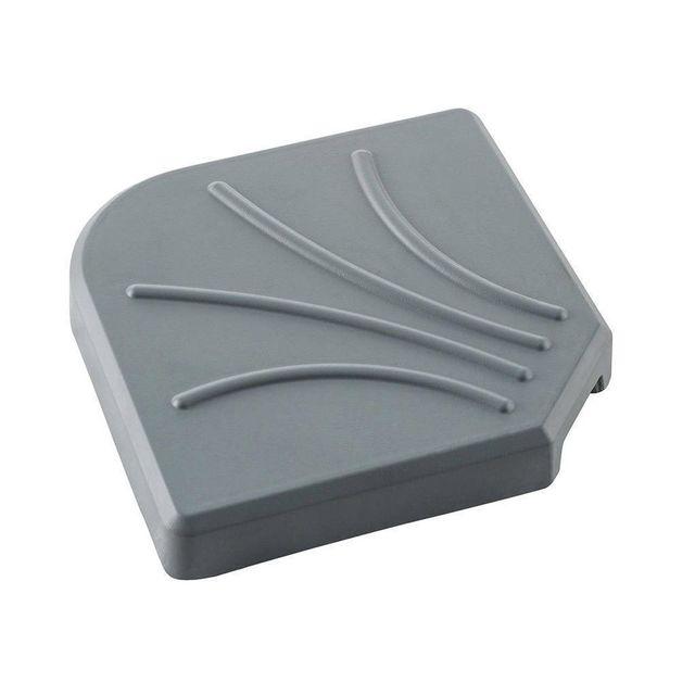 hesperide dalle pour parasol d port 15 kg gris pas. Black Bedroom Furniture Sets. Home Design Ideas