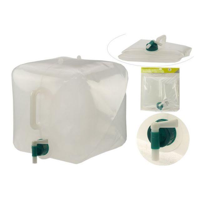 Revimport Jerrican Eau 15 L carré pliable + robinet