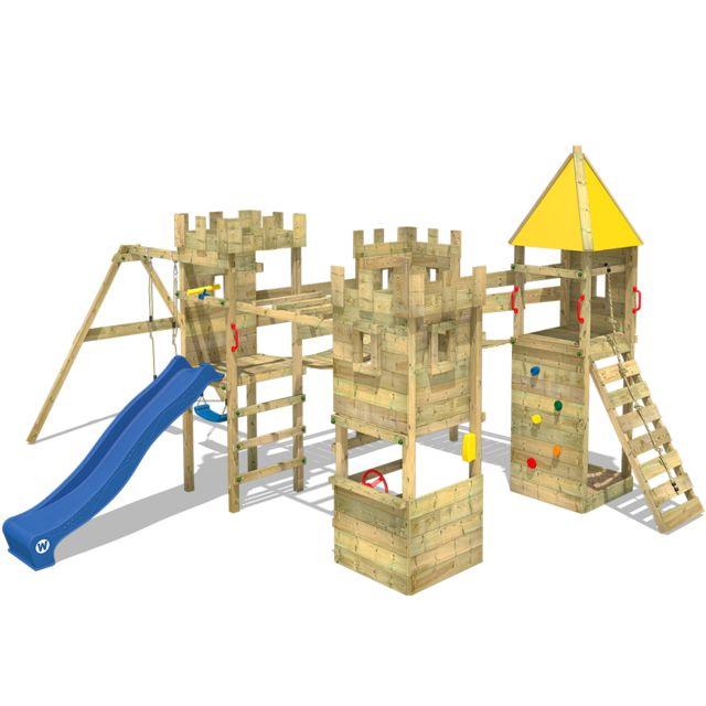 WICKEY - WICKEY Aire de jeux en bois Smart Excalibur Tour d´escalade avec  toboggan 6f63d5910862
