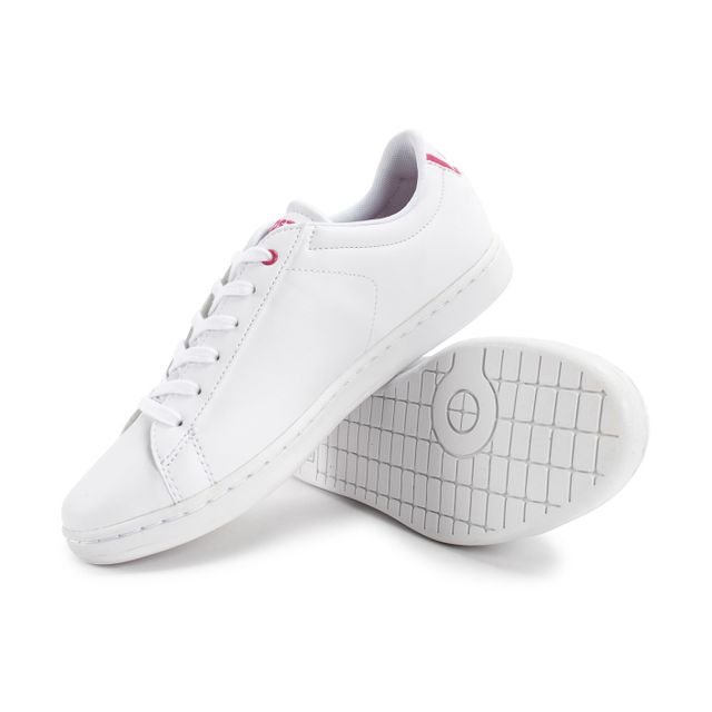 00665c63a4 Lacoste - Carnaby Evo Blanche Et Rose - pas cher Achat / Vente ...