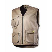 DIADORA - Gilet 3 poches Beige MOVER POLY - 160302250700