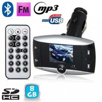 Yonis - Transmetteur Fm voiture Bluetooth Mp3 Usb Carte Sd Jack 3.5mm 8 Go
