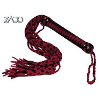 Zado Collection - Fouet Cuir Suede Rouge - Noir