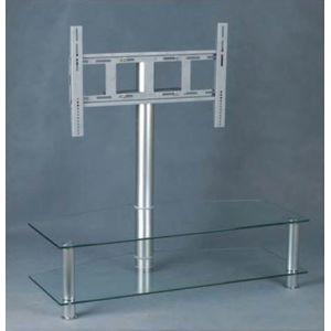 electronic star support tv pied verre et aluminium pas. Black Bedroom Furniture Sets. Home Design Ideas