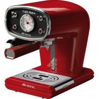 Ariete - Cafè Retro - Machine à expresso manuelle - 0,9 Litre - 15 Bars - 900 W - Buse - Rouge