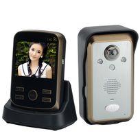 Shopinnov - Interphone audio vidéo sans fil Moniteur 3.5 pouces Detection de mouvement Pir