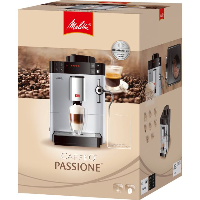 """MELITTA MACHINE AUTOMATIQUE CAFFEO PASSIONNE ARGENT Une machine à expresso automatique peu encombrante pour un café fraichement moulu""""Dégustez un café fraichement moulu grâce à cette machine à expresso"""