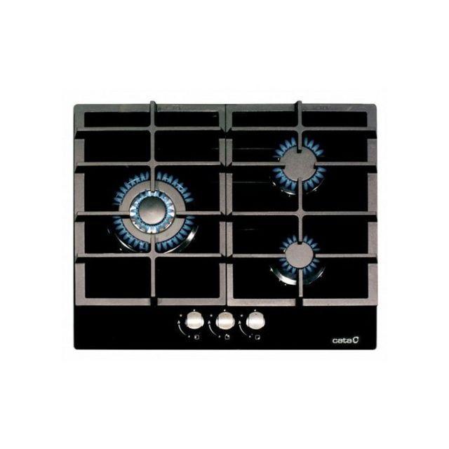 Cata Plaque au gaz Lcib6021BK 60 cm 3 cuisinière