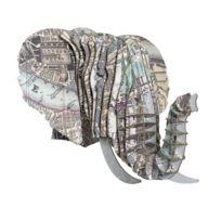 Cardboard Safari - Tête Eléphant en Carton Recyclé London - Taille M
