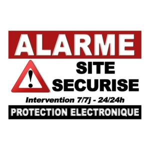 iprotect autocollant alarme site securise pas cher achat vente accessoire alarme. Black Bedroom Furniture Sets. Home Design Ideas