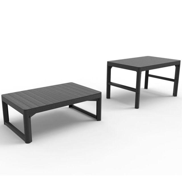 ALLIBERT - Table de jardin Lyon Graphite 232300 - pas cher Achat ...