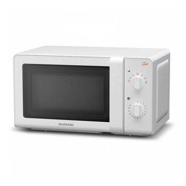 Totalcadeau Micro-ondes avec grill 20 L 700W blanc Plateau tournant et grill pour cuisson