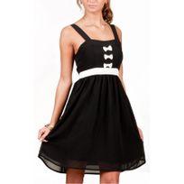 Vero moda - Robe Jannu mini Bow Dress Black