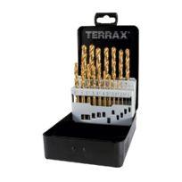 Terrax - A250214T Coffret De Forets HÉLICOÏDAUX 19 PiÈCES Hss Tin Coffret Acier