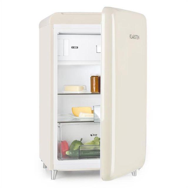KLARSTEIN PopArt Cream Réfrigérateur congélateur 108 l/13 l classe A++ - crème