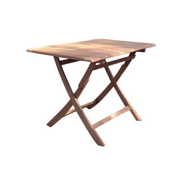 PROLOISIRS - Table rectangulaire pliante look teck - pas cher Achat ...