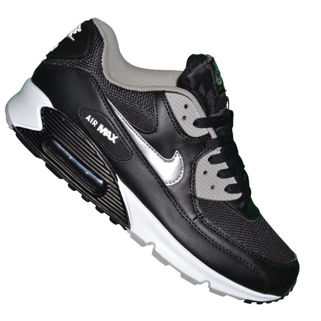 newest edee4 13231 Nike - Basket - Femme - Air Max 90 230 - Noir Argent - pas cher Achat   Vente Baskets femme - RueDuCommerce